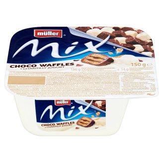 Müller Mix Jogurt sladený so smotanovou príchuťou s kakaovo-krémovými oblátkami 150 g