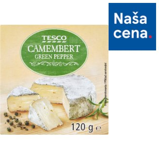 Tesco Camembert Green Pepper 120 g