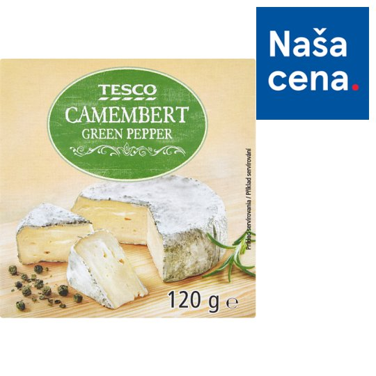 Tesco Camembert Green Pepper 120 g