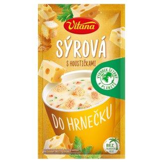 Vitana Do hrnečku Instantná polievka syrová so žemličkami 22 g