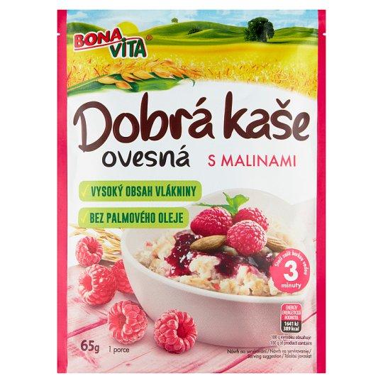 Bona Vita Dobrá kaše Original ovsená kaša malina 65 g