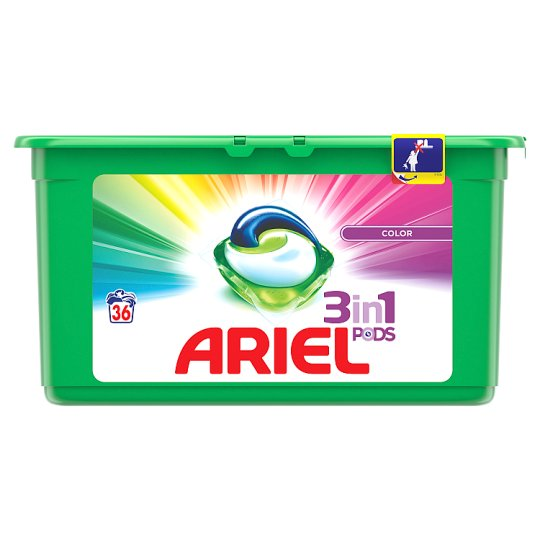 Ariel 3in1 Pods Color Washing Capsules 36 Washes