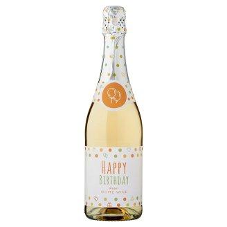 Happy Birthday perlivé polosladké biele víno 0,75 l