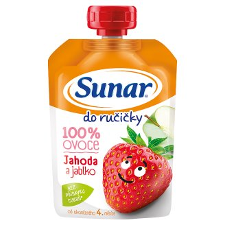 Sunárek Do Ručičky Apple Strawberry 100 % Fruit 100 g