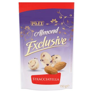 Poex Almond Exclusive Stracciatella jadrá mandlí v bielej čokoláde 150 g