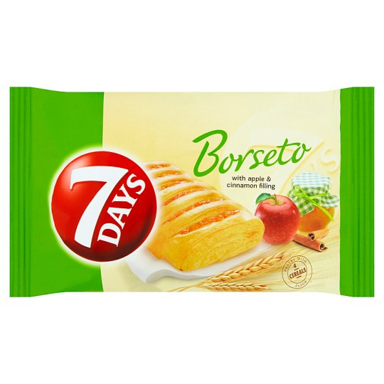 7 Days BORSETO Pastry of Leavened Puff Pastry with Apple Filling and Cinnamon 60 g