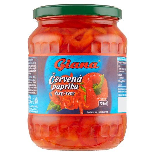 Giana Red Pepper in Sweet-Sour Brine with Sugar and Sweeteners 650 g