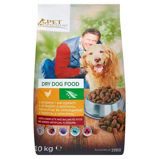 Tesco Pet Specialist Kompletné krmivo pre dospelé psy s hydinou a zeleninou 10 kg