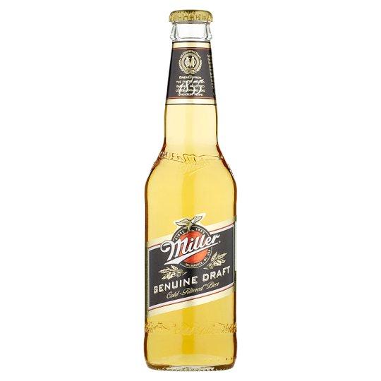 Miller Genuine Draft pivo výčapný ležiak svetlý 330 ml
