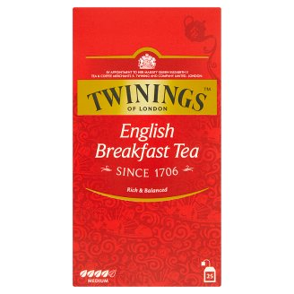Twinings English Breakfast čierny čaj 25 x 2 g