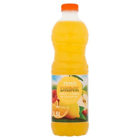 Tesco Nealkoholický nesýtený jablkovo-citrusový nápoj s príchuťou opuncie 1,5 l