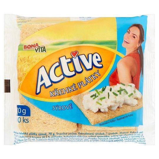 Bona Vita Active Krehké plátky syrové 10 ks 70 g