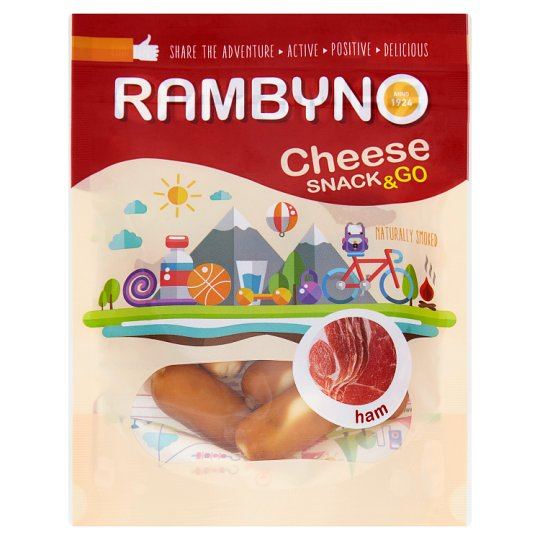 Rambyno Cheese Snack & Go Smoked Melted Cheese with Ham 75 g