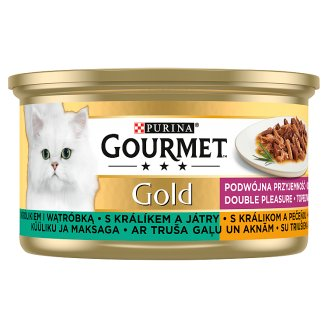 GOURMET Gold Double Pleasure with Rabbit and Liver 85 g