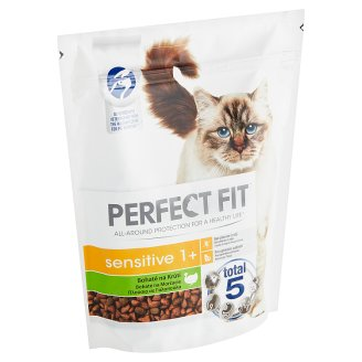 Perfect Fit Sensitive 1+ Complete Food for Adult Cats Turkey 750 g