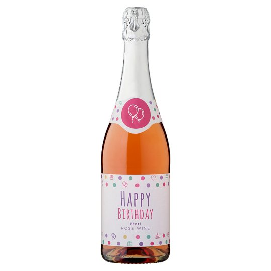 Happy Birthday Pearl Sparkling Rose Wine 0.75 L