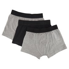 image 2 of F&F Men's Black-Gray Hipsters with Lowered Waist, 3 pcs in a Pack, L, Black