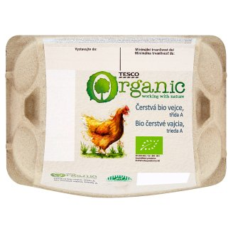 Tesco Organic Fresh Eggs M 6 pcs
