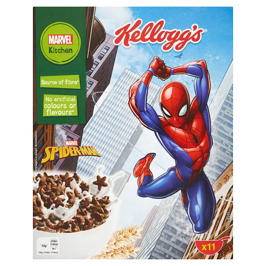 Kellogg's Spider-Man Crunchy Chocolate Flavour Wheat Cereal 350 g