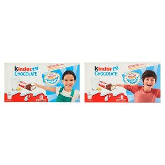 Kinder Chocolate Milk Chocolate Bars with Milk Filling 8 x 12.5 g