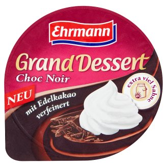 Ehrmann Grand Dessert Choc Noir Dessert with Whipped Cream 200 g
