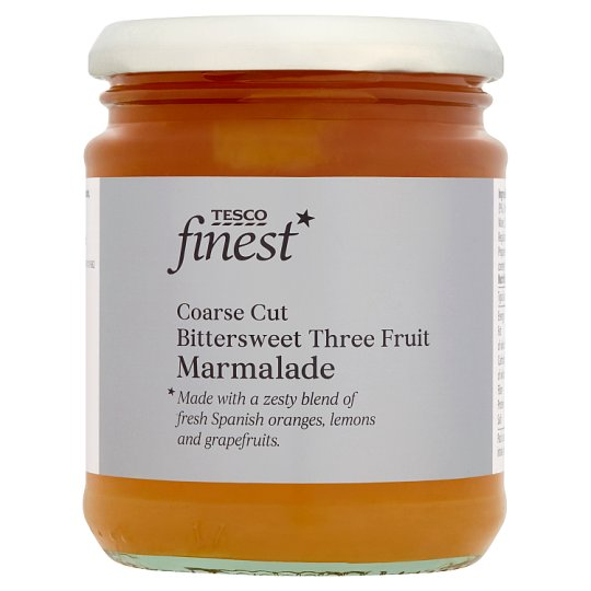 Tesco Finest Three Fruit Marmalade 340 g