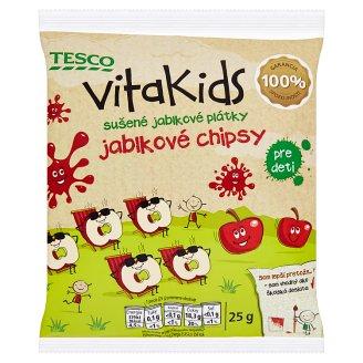 Tesco Goodness Vitakids sušené jablkové plátky jablkové chipsy pre deti 25 g