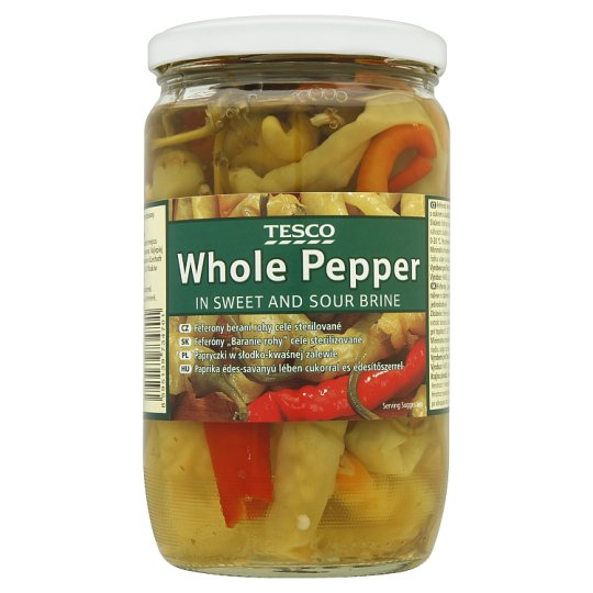 Tesco Whole Pepper in Sweet and Sour Brine 620 g