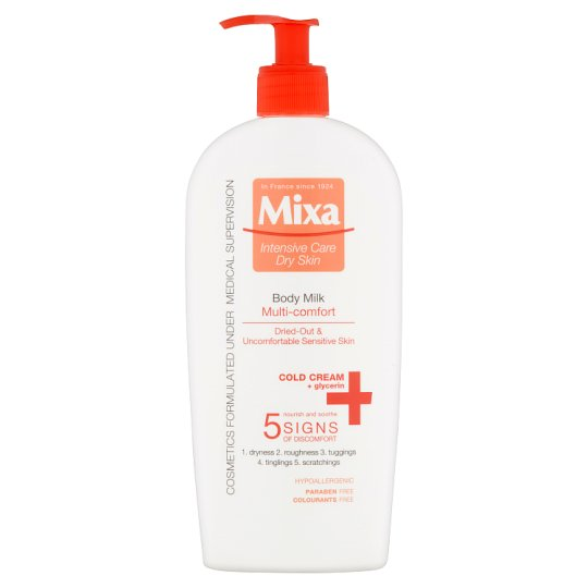 Mixa Intensive Care Dry Skin Multi-Comfort telové mlieko 400 ml