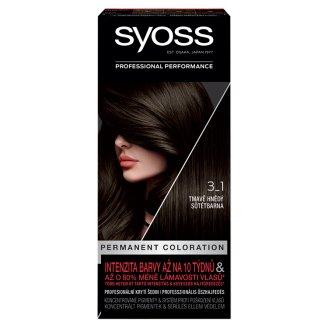 Syoss farba na vlasy Tmavohnedý 3-1