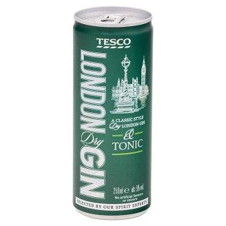 Tesco London Dry Gin & Tonic 250 ml