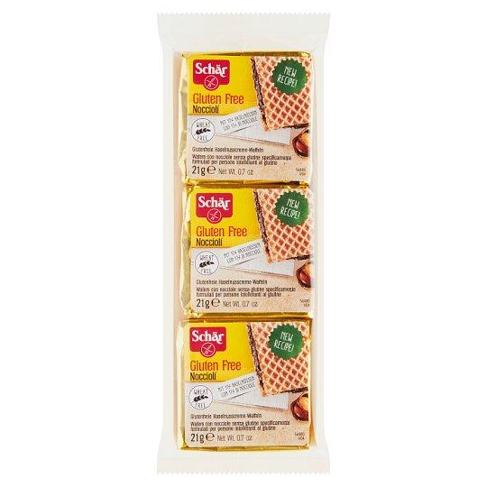 Schär Nocciolí bezgluténové vafle s krémom z lieskových orieškov 3 x 21 g