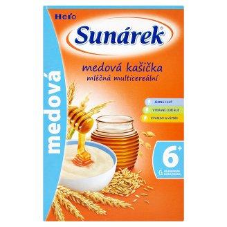 Sunárek Medová kašička mliečna multicereálna 225 g