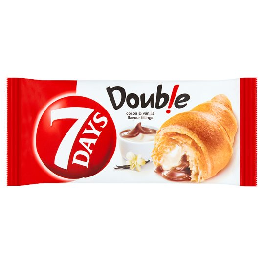 7 Days Double Croissant with Cocoa and Vanilla Filling 60 g