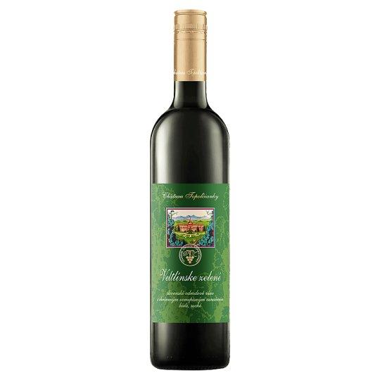 Château Topoľčianky Veltlínske zelené slovenské odrodové víno biele suché 1 l