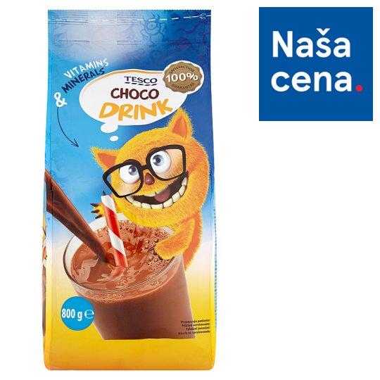 Tesco Sladená instantná kakaová zmes s pridanými minerálnymi látkami a vitamínmi 800 g