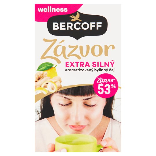Bercoff Klember Wellness Ginger Extra Strong Aromatized Herbal Tea with Lime 20 x 2 g
