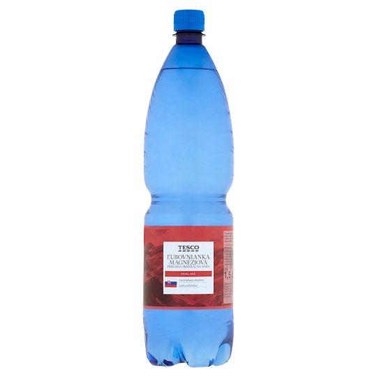 Tesco Ľubovnianka Magnesium Natural Mineral Water Carbonated 1.5 L