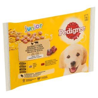 Pedigree Junior Kuracie a morčacie mäso v šťave kompletné krmivo pre rastúce psy a šteňatá 4 x 100 g