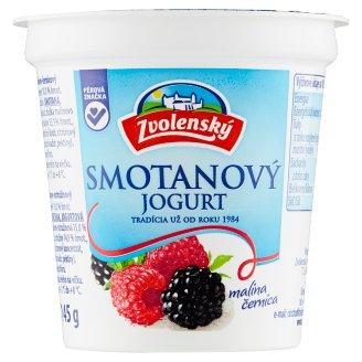 Zvolenský Smotanový jogurt malinovo černicový 145 g