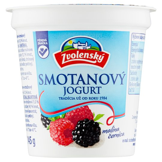 Zvolenský Cream Yogurt Raspberry Blackberry 145 g