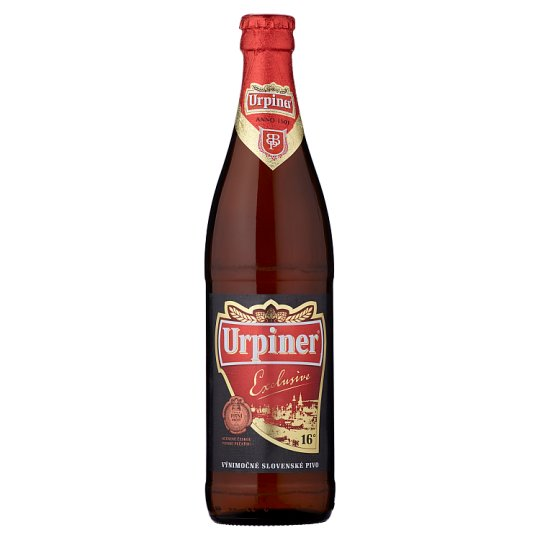 Urpiner Exlusive 16° Exclusive Light Lager 500 ml