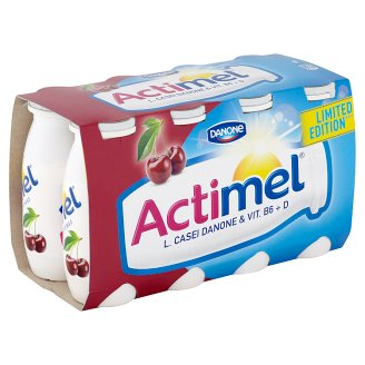 Danone Actimel Yoghurt Milk with Vitamins B6 and D - Cherry and Acerola 8 x 100 g
