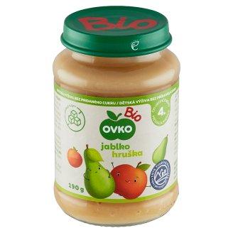 Ovko Bio Dojčenská výživa hrušková s jablkami 190 g