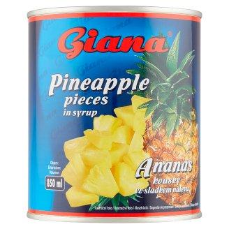 Giana Ananás kúsky v sladkom náleve 850 g