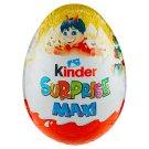 Kinder Surprise Maxi sladké vajce s mliečnou čokoládou s prekvapením 100 g