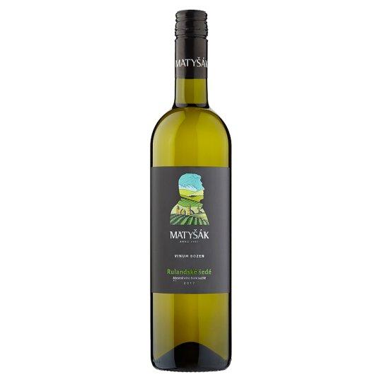 Matyšák Rulandské šedé víno akostné biele suché 0,75 l
