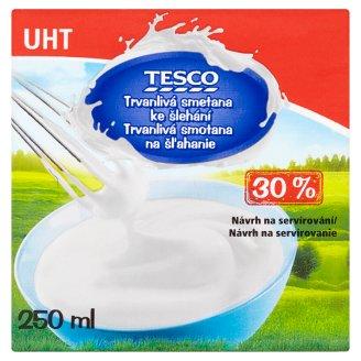 Tesco Trvanlivá smotana na šľahanie 30 % 250 ml