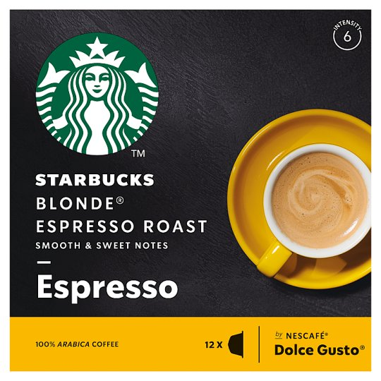 Starbucks By Nescafe Dolce Gusto Blonde Espresso Roast Coffee In Capsules 12 Capsules In A Pack