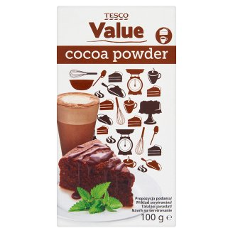 Tesco Value Cocoa Powder with Reduced Fat 100 g